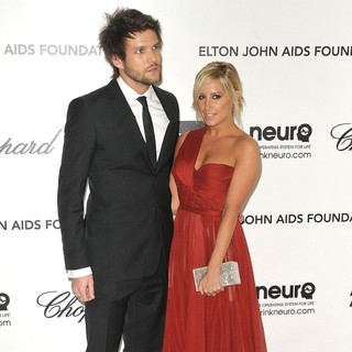 Martin Johnson, Ashley Tisdale in The 20th Annual Elton John AIDS Foundation's Oscar Viewing Party - Arrivals