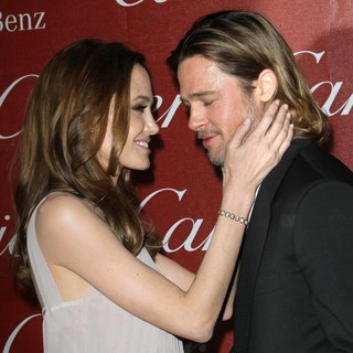Angelina Jolie, Brad Pitt in The 23rd Annual Palm Springs International Film Festival Awards Gala - Arrivals