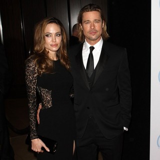 Angelina Jolie, Brad Pitt in The 23rd Annual Producers Guild Awards - Arrivals