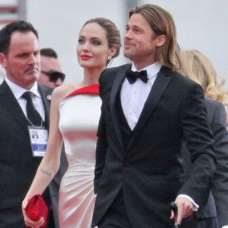 Angelina Jolie, Brad Pitt in The 69th Annual Golden Globe Awards - Arrivals