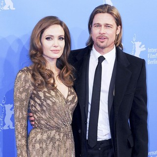 Angelina Jolie, Brad Pitt in The Cinema for Peace Gala