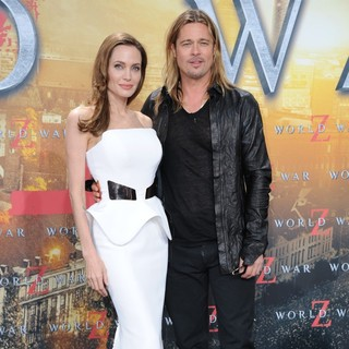 Angelina Jolie, Brad Pitt in The World War Z Premiere