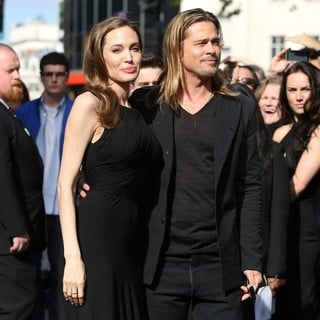 Angelina Jolie, Brad Pitt in UK Film Premiere of World War Z - Arrivals