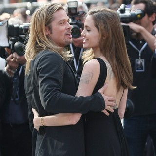 Brad Pitt, Angelina Jolie in UK Film Premiere of World War Z - Arrivals