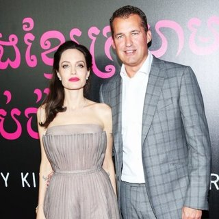 Angelina Jolie, Scott Stuber in First They Killed My Father Premiere - Arrivals