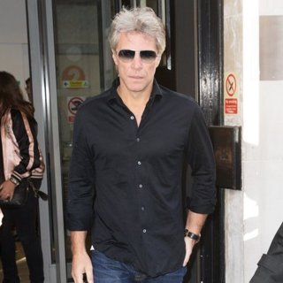 Jon Bon Jovi Arriving at The Radio 2 Studio