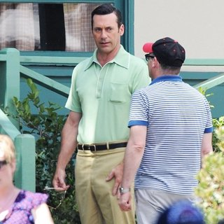 Jon Hamm in Mad Men Filming
