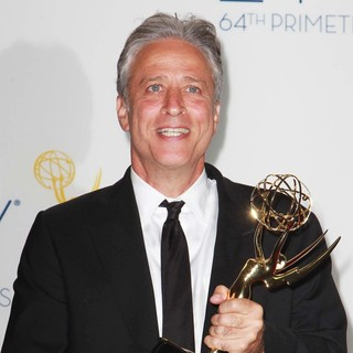 Jon Stewart in 64th Annual Primetime Emmy Awards - Press Room