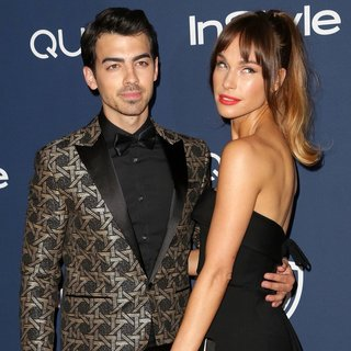Joe Jonas, Blanda Eggenschwiler in The 15th Annual Warner Bros and InStyle Golden Globe Awards After Party - Arrivals