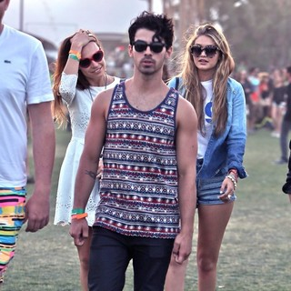 Blanda Eggenschwiler, Joe Jonas in The 2013 Coachella Valley Music and Arts Festival - Week 1 Day 3
