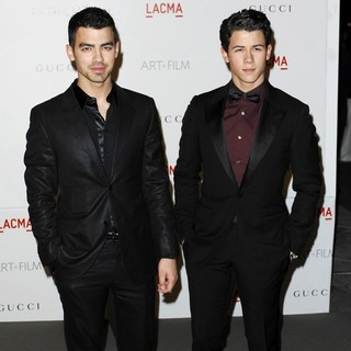 Joe Jonas, Nick Jonas, Jonas Brothers in LACMA's Art And Film Gala Honoring Clint Eastwood and John Baldessari
