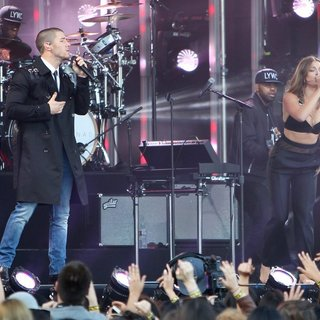 Nick Jonas and Tove Lo Seen Performing on Jimmy Kimmel Live!