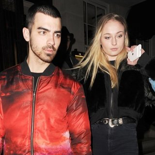 Joe Jonas, Sophie Turner-Joe Jonas and Sophie Turner Leaving 34 Restaurant Together