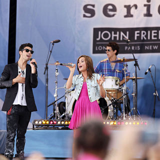 Joe Jonas, Demi Lovato in ABC's 'Good Morming America' Presents 'Disney Camp Rock 2: The Final Jam'