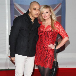 Jade Jones, Emma Bunton in The BRIT Awards 2012 - Arrivals