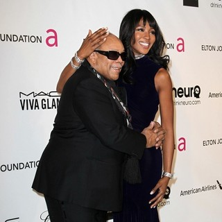 Quincy Jones, Naomi Campbell in 21st Annual Elton John AIDS Foundation's Oscar Viewing Party