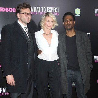 Kirk Jones, Cameron Diaz, Chris Rock in What to Expect When You're Expecting New York Premiere