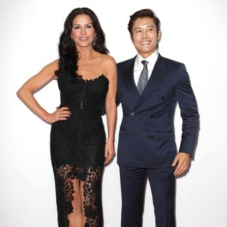 Catherine Zeta-Jones, Lee Byung-hun in Los Angeles Premiere of Red 2
