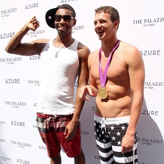 Cullen Jones, Ryan Lochte in Ryan Lochte Celebrates His Olympic Success by Hosting A Day at Azure Pool