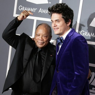 Quincy Jones, John Mayer in 55th Annual GRAMMY Awards - Arrivals