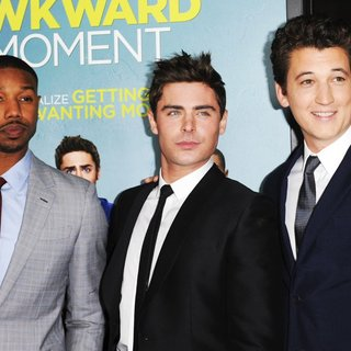 Michael B. Jordan, Zac Efron, Miles Teller in Premiere of That Awkward Moment