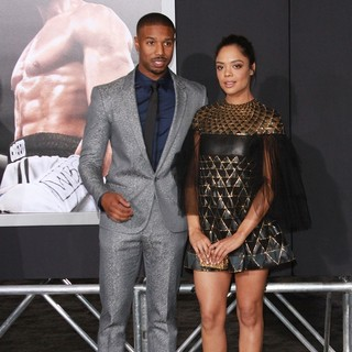 Michael B. Jordan, Tessa Thompson in Los Angeles Premiere of Creed - Arrivals