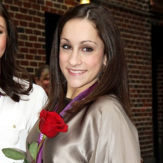 Jordyn Wieber in Celebrities Arrive for The Late Show with David Letterman