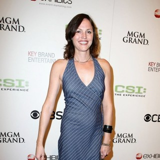 Jorja Fox in CSI The Experience Grand Opening