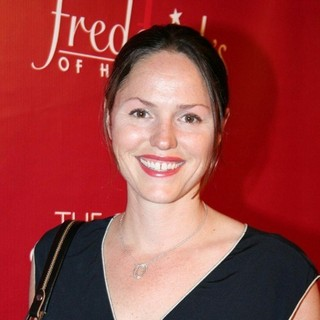 Jorja Fox in Frederick's of Hollywood 2008 Spring Collection Fashion Show