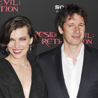Milla Jovovich, Paul W.S. Anderson in Resident Evil: Retribution Los Angeles Premiere - Arrivals