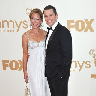 Lisa Joyner, Jon Cryer in The 63rd Primetime Emmy Awards - Arrivals
