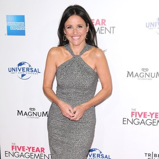 Julia Louis-Dreyfus in 2012 Tribeca Film Festival Opening Night - The Five-Year Engagement - Arrivals