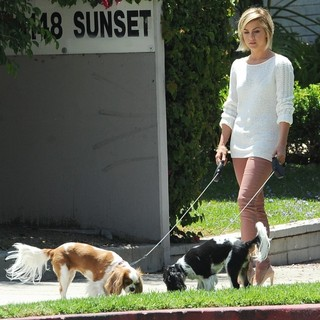 Julianne Hough in Julianne Hough Out Walking Her Dogs
