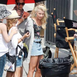 Julianne Hough in On The Set of New Movie Rock of Ages