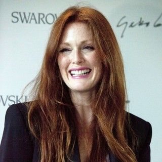 Julianne Moore in Swarovski Celebrates Swarovski Crystallized - A Collaboration of Crystal and Art with Yoko Ono