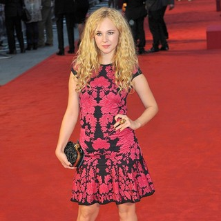 Juno Temple in The Premiere of Anna Karenina