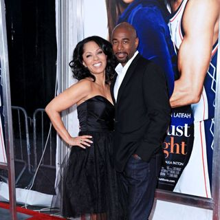 Debra Martin Chase, Michael Elliot in The Premiere of 'Just Wright'