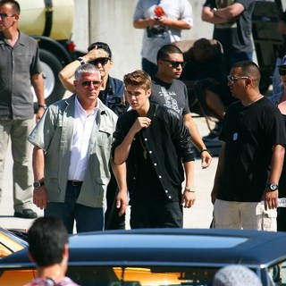 Justin Bieber in Justin Bieber Films His New Music Video Boyfriend