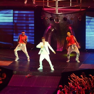 Justin Bieber in Justin Bieber Performs at The O2