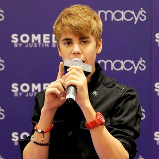 Justin Bieber in Justin Bieber Promotes His New Fragrance Someday with An Appearance
