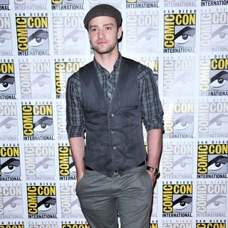 Justin Timberlake in 2011 Comic Con Convention - Day 1 - In Time Press Conference - Arrivals