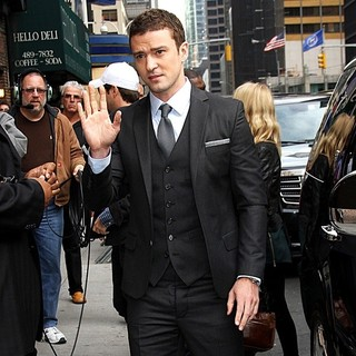 Justin Timberlake in The Late Show with David Letterman - Arrivals