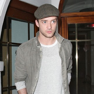 Justin Timberlake in Justin Timberlake Leaving Nobu Restaurant in Mayfair