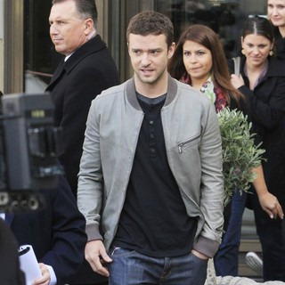 Justin Timberlake in A Photocall to Promote The Movie In Time