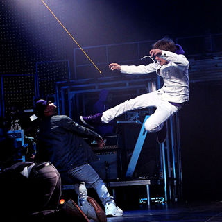 Justin Bieber - Justin Bieber Performing at The Theater of Performing Arts