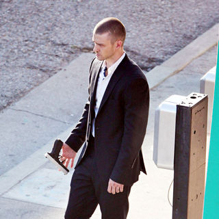 Justin Timberlake - Filming on Location for The New Movie 'Now'