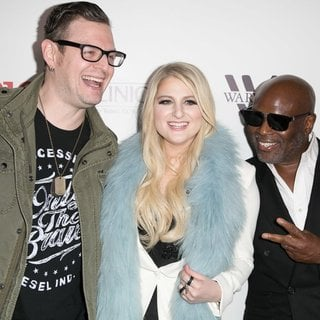 Kevin Kadish, Meghan Trainor, L.A. Reid in Meghan Trainor's Debut Album Release Party