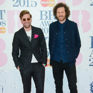 Ricky Wilson, Simon Rix, Kaiser Chiefs in The Brit Awards 2015 - Arrivals