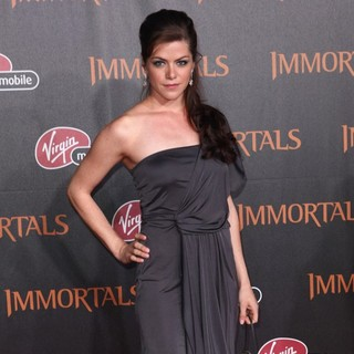 Kaniehtiio Horn in Immortals 3D Los Angeles Premiere