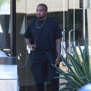 Kanye West Arriving to A Studio